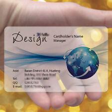 Blue Design 200pc Color Frosted Transparent PVC Plastic Business Cards Print