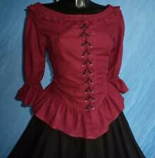 Medieval Blouse (Red, Brown) - 1285