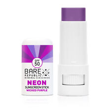 Bare Republic Mineral Spf 50 Neon Sunscreen Stick - Wicked Purple 0.3 oz.