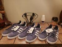 Men Adidas Campus Court Lifestyle Sneakers Raw Indigo/White AQ1089. Sz. 12 New!