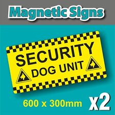 More details for 2x full colour printed magnetic van signs security dog unit surveillance patrol