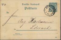 """ALLEMAGNE / GERMANY / DEUTSCHLAND 1892 """" BÜHL (BADEN) """" EINKREISSTEMPEL /Mi.P30"""
