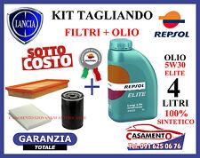 KIT TAGLIANDO LANCIA MUSA 1.4 8V FILTRI + OLIO REPSOL 5W30 SINTETICO