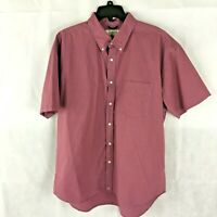 J.Crew Red and Blue Plaid Button Down Short Sleeve Shirt 100% Cotton Size XL