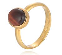 Silvery Ring Tigerauge Silber 925 vergoldet schmuckrausch