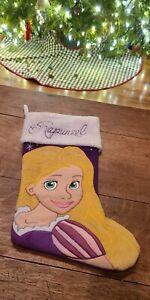 Prima Creations Disney Princess Rapunzel Purple White Christmas Stocking