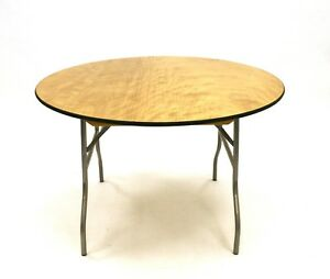 New 4' Diameter wooden table, Folding Round tables, Banqueting Tables