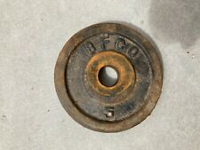 Vintage 5 lb BFCO 1 inch Standard Weight Plate (5 lbs Total)