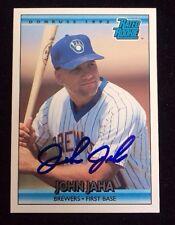JOHN JAHA 1992 DONRUSS RATED ROOKIE RC Autographed Signed AUTO Baseball Card 398