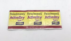 Fleischmann's Active Dry Yeast, 3 Strip Packets Buy 4 Get 1 FREE-FAST SHIPPING