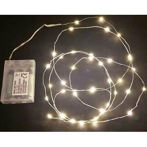 40 Microled Couleur Blanc Chaud Batterie Crèche Décorations
