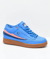 FILA x Pink Dolphin T1 Mid Blue & Gum Shoes US UK NIB Men's Ghost Size 4 - 7