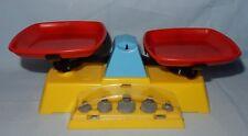 Spielzeug Waage mit Gewichten für den Kaufmannsladen Plastik