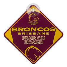 Brisbane Broncos NRL Car window Sign Supporter Man Cave Car Fridge Shed Gift