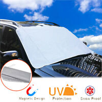 Front Windshield Car Sun Shade Cover Protect Snow Sunlight Dust Magnetic Design