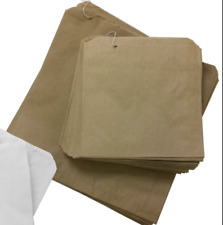More details for brown paper bags kraft and white sulphite strung food sandwiches grocery bags