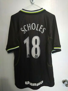 Manchester United UMBRO 1998-99 3rd away jersey POUL SCHOLES 18 SIZE - M adult
