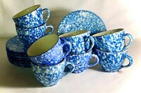 8 Royal Cumberland Blue Town And Country Cups And Saucers
