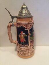 King Heidelberg Perkeo Gr. Fass Lidded German Beer Stein
