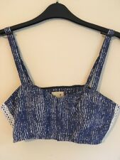 L Donna Estate Blu Navy E Bianco Bustino Bustier Crop Top Taglia M by Hollister