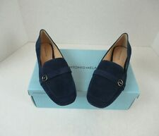 New Antonio Melani Madeli Women's 1770 Blue Flats Loafer Suede Leather Sole 8M