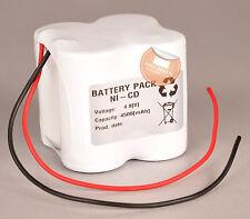 Akkupack 4,8V / 4,5Ah Ni-Cd für Notlicht Notbeleuchtung 2x 2er Reihe mit Kabel