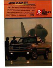 1988 Dodge DAKOTA 4x4 Black Pickup Truck VTG PRINT AD