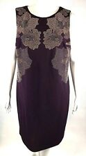 New Calvin Klein Womans Purple Studded Floral Sz 18W Shift Dress $149.50 NWT
