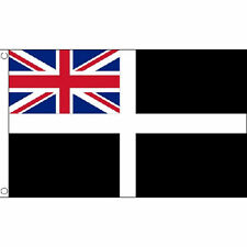Cornwall Ensign Flag 5Ft X 3Ft Cornish England English County Banner New