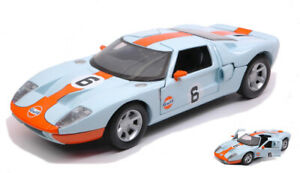Model Car Scale 1:24 diecast Ford Gt Concept Gulf Series vehicles