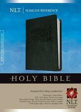 NLT Slimline Reference Bible ( Jeremiah 29:11 Ebony Black Leather-like)