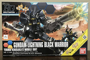 BANDAI HG Build Fighter Battlogue Gundam Lightning Black Warrier 1/144 Model Kit