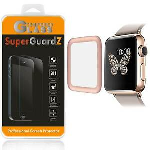 Tempered Glass [FULL COVER] Screen Protector For Apple Watch Series 3 38 mm