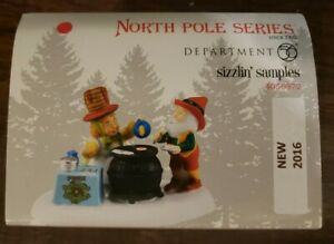 Department 56 North Pole Village Accessory -  SIZZLIN' SAMPLES NIB