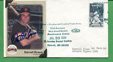 Darrell Evans Signed Baseball Card /Cover 3rd Base 1984 Giants - B0759