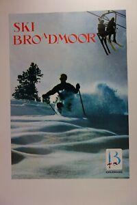 Vintage Original Poster 1968 Ski Broadmoor Looart Colorado