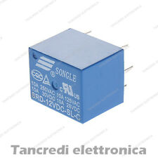 Relè 12V 12Vdc per circuito stampato 250V 10A relay deviatore SRD-12VDC-SL-C
