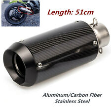 51mm Motorcycle Carbon Fiber Round Slip-On Ehaust Muffler 38-51mm Adaptor Kit