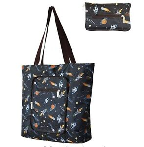 Reusable Shopping Bag Large Foldable Heavy Duty with Zipper, New