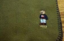 Ralph Lauren Polo Bear Blanket Green