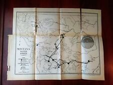 1912 MT Water Power Map Butte Electric United Missouri River Power Company