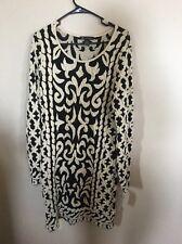 INC International Concepts Scoop Neck Long Sleeve Sweater Dress Large L