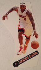 "Lebron James #6 Fathead Miami Heat 7"" Inch w/ Nameplate Sign Vinyl Wall Graphics"