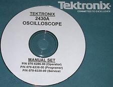 Tek 2430A Service Operator & Programers Manuals 3 Vol