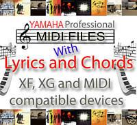 HIT SONGS, MIDI BACKING TRACKS with CHORDS & LYRICS