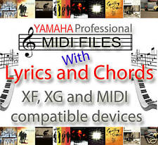YAMAHA CHORDS & LYRICS 8,000 MIDI FILES & BACKING TRACKS / SONGS - XF, XG -TOP