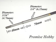 """1/4"""" X 580mm flex cable and 1/4"""" to 3/16"""" prop shaft for rc boat"""