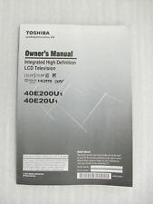 Original User Manual for Toshiba 40E200U & 40E20U TV (New)