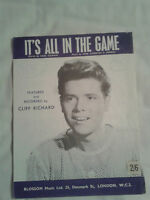 Cliff Richard - Sheet Music - It's All In The Game (1963)