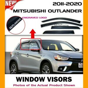 WINDOW VISORS for 11-21 Mitsubishi Outlander Sport / DEFLECTORS RAIN GUARD VENTS
